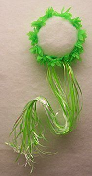 Lime Fairy Ribbon Flower Fairy Halo by Lil Princess. $3.99. VERY long cascading curling ribbons. Soft Flowers stetch and make up the halo. A stunning green stretchy fairy halo with long flowing ribbons cascading down the back. This is the perfect accessory for a pixie or fairy costume. Also great just for fun! One size fits most children & adults.