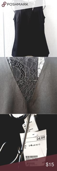 H&M lace tank NWT H&M tank with lace insert at neckline. H&M Tops Tank Tops