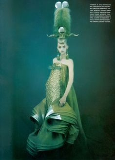 Avant Garde mermaid, Gemma Ward.