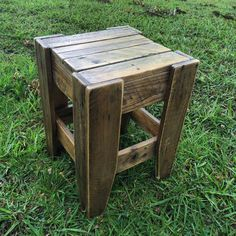 Rustic pallet stool. Shipping is logically NOT included, I repeat, NOT INCLUDED, especially for items such as what we sell, as obviously we need your post code to work out shipping cost as there is no flat rate shipping option available for us to just do a one shipping cost fits all. You may pick up from our gallery which is free, or you can arrange shipping or ask us and we will be happy to assist in getting you a quote. Do NOT purchase our products and then complain that you have to pay…