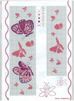 Ricami e schemi a punto croce gratuiti tante farfalle da for Schemi punto croce fiori e farfalle