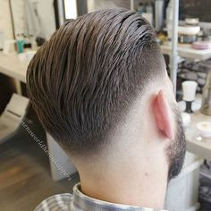 #Pompadour slicked back with Shaper from @hairbond