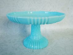 This is perfection...I adore it! #Antique Turquoise Milk Glass #Cake Pedestal by SwirlingOrange11.etsy.com.