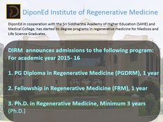 DiponEd BioIntelligence Offers DIPLOMA Courses From DiponEd Institute of Regenerative Medicine! ‪#‎Medicine‬ ‪#‎Diploma‬