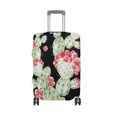 ALAZA Pink Puppy Dog Polyester Luggage Travel Suitcase Cover Case Protector