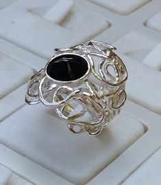Onyx Silver Ring Sterling Silver 925 Ring Handmade by TalyaDesign