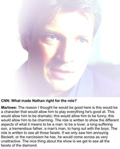 And we have! Just like NO ONE could replace Stana as Beckett there would be NO Castle without Nathan <3