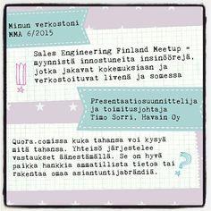 Timo Sorri kertoi omista verkostoistaan Myynti&Markkinointi-lehdessä. Hyödynnätkö sinä Meetup- tai Quora-palveluita? #asiantuntijasome