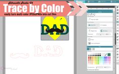 How to Use Silhouette Studio V4 Trace by Color
