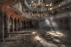 Eerie glimpses of urban decay, via Niki Feijen.