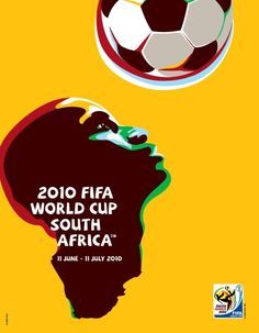Cartel oficial del campeonato mundial de futbol de Sudáfrica 2010 - Official poster of the football World Championship South Africa 2010