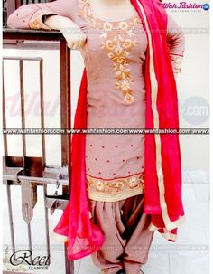 Give yourself a stylish & punjabi look with this Tempting Rosy Brown Embroidered Suit From Reet Glamour. Embellished with Embroidery and lace work. Available with matching bottom & dupatta. It will make you noticable in special gathering. You can design this suit in any color combination or in any fabric. Just whatsapp us for more details. For more details Whatsapp us on +919915178418