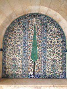Tile panel by Armenian ceramist David Ohannessian in the Jerusalem House of Quality.