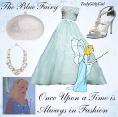 """""""Disney Style: The Blue Fairy"""" by trulygirlygirl ❤ liked on Polyvore"""
