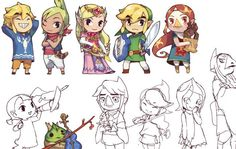 Wind Waker Characters by Juby ( ・ิω・ิ) (@CutTimeComic)   Twitter