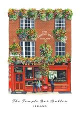 The Temple Bar Pub, Dublin, Ireland archival print Vibrant Colors, Colours, Temple Bar, Dublin City, Dublin Ireland, Beautiful Islands, Watercolor Paper, Wooden Frames, Childhood Memories