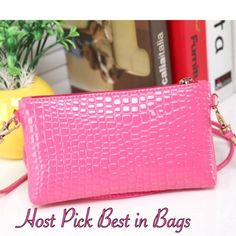 Pink Shoulder Messenger Bag Very cute Bag can be worn on shoulder , cross body or clutch. Strap does come off. There is a pocket inside. Pu leather Color may vary due to lightning. New in bag! Boutique Bags