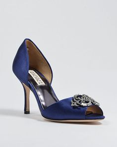 Badgkey Mischka - Salsa Jeweled Bridal Shoes