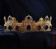 GOLD Red Blood Crown Male Crown For Royal by Elviejewelrydreams - King's crown