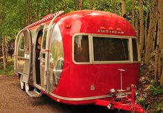 Red and chrome Airstream.