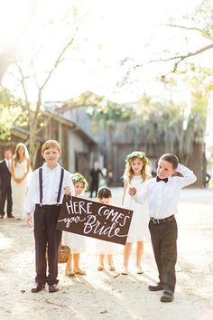 The sweetest ring bearer sign   Brides.com