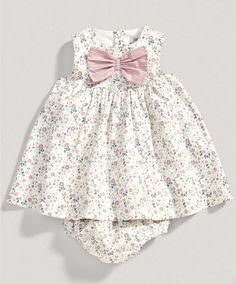 Girls Floral Bow Dress and Knickers Set - New Arrivals - Mamas  Papas