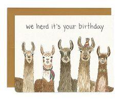 Llama Birthday Card // Cute and Funny Alpaca Inspired Birthday Card - - Llama Birthday Card // Cute and Funny Alpaca Inspired Birthday Card ART Lama Geburtstagskarte / / süß und lustig Alpaka inspiriert Geburtstagskarte Birthday Card Puns, 18th Birthday Cards, Llama Birthday, Birthday Quotes For Him, Birthday Cards For Friends, Bday Cards, Birthday Greetings, It's Your Birthday, Birthday Gifts