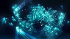 sci-fi luminous space station