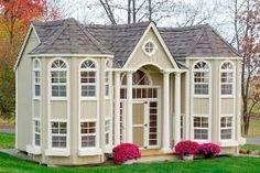 10 x 16 Grand Portico Mansion Panelized Kit #backyardplayhouse #buildplayhouses #outdoorplayhouse