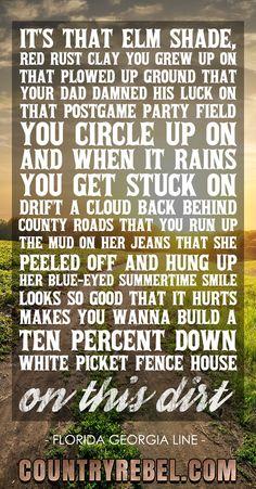Trendy quotes music lyrics country florida georgia line ideas Country Music Quotes, Country Music Lyrics, Country Music Singers, Country Songs, Country Girls, Great Song Lyrics, Song Lyric Quotes, Lines Quotes, Florida Georgia Line