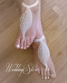 barefoot sandals von wedding store auf DaWanda.com