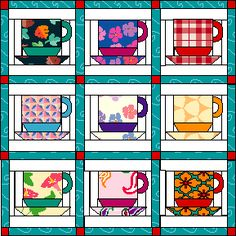 Coffee Cups Quilt (or call them tea cups, or cocoa cups)