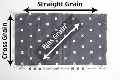 Bias Grain - Understanding grainline - what is fabric grain and how is it important in sewing? Sewing Hacks, Sewing Tutorials, Sewing Projects, Sewing Patterns, Sewing Tips, Quilting For Beginners, Quilting Tips, Cut Up Shirts, Band Shirts