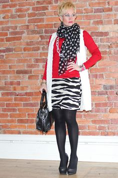 Red with pattern play