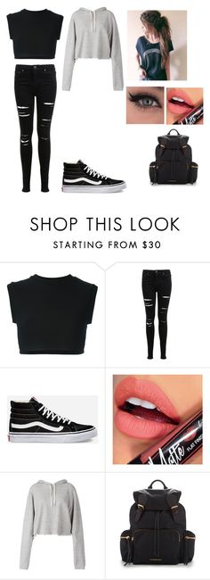 """""""I don't care anymore"""" by jasmine-the-basic-penguin ❤ liked on Polyvore featuring adidas Originals, Miss Selfridge, Vans, Fiebiger, Faith Connexion and Burberry"""