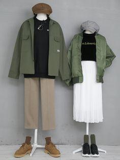 마리쉬♥패션 트렌드북! Kpop Outfits, Edgy Outfits, Fashion Outfits, Cute Lazy Outfits, Pretty Outfits, Timeless Fashion, European Fashion, Rustic Outfits, Matching Couple Outfits