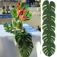 24 шт. 35x29 см и 20x18 см Тропические Листья Гаваи