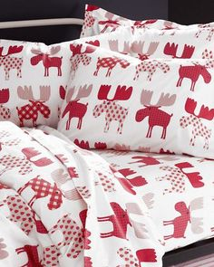 Shop flannel duvet covers in king, queen, double and twin at Garnet Hill. Our cozy flannel duvet covers and flannel comforter covers are brushed for softness. Comforter Cover, Duvet Covers, Home Bedroom, Bedroom Decor, Bedrooms, Bedroom Ideas, Moose Decor, Moose Art, Christmas Bedding
