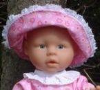 Sommerkleid für Puppen, Puppengrösse 40 - 45 cm