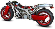 Ferrari V4 Motorcycle no fairing - https://delicious.com/d3n4ku