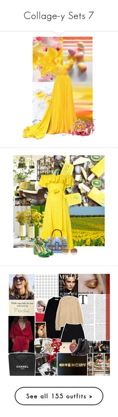 """""""Collage-y Sets 7"""" by tayswift-1d ❤ liked on Polyvore featuring Prada, Aspinal of London, Aquazzura, Saks Fifth Avenue, Lisa Marie Fernandez, Gucci, Rupert Sanderson, Chloé, Chanel and Marni"""