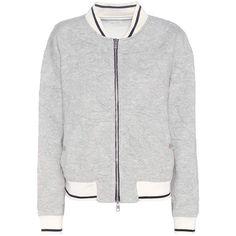 Rag & Bone Jacquard Jersey Bomber ($280) ❤ liked on Polyvore featuring outerwear, jackets, coats & jackets, grey, grey jacket, jacquard jacket, jersey jacket, gray jacket and bomber style jacket