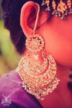 Indian Wedding Jewelry - Gorgeous Chandbaalis | WedMeGood Find more Indian wedding inspiration at www.wedmegood.com #chandbaalis #wedmegood #indianbride #jewelry