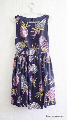 Pineapple dress (Vogue 8901) See The pattern front also pinned here. Not our customer but shows a cute rendition of this summer dress!