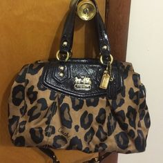 Coach Madison leopard satchel Used but taken care of.  Coach Bags Satchels