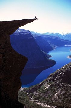 Pulpit Rock, Norway - really cool view, my fear of heights is kickin in just looking at this.