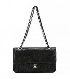 Chanel Black Crocodile Shoulder Bag