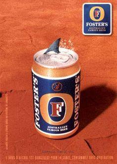 Rare French FOSTER'S Beer Postcard Australia SHARK Can   eBay