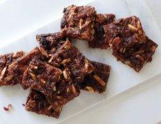 Chewy Chocolate Squares with Dried Fruit and Nuts