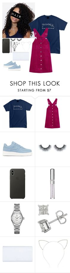 """""""Untitled #682"""" by datdamntatsie ❤ liked on Polyvore featuring Religion Clothing, NIKE, Apple, Chantecaille, TAG Heuer, Trussardi and Forever 21"""
